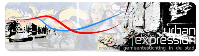 Creatief gebed banner